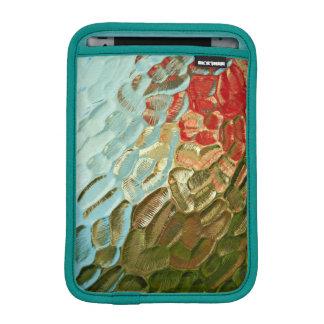 abstraktes buntes strukturiertes Glasmuster Sleeve Für iPad Mini