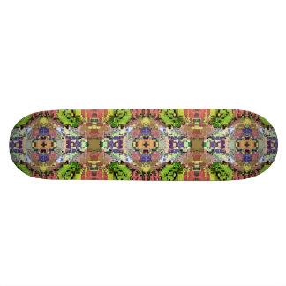Abstraktes buntes symmetrisches personalisiertes skateboarddeck