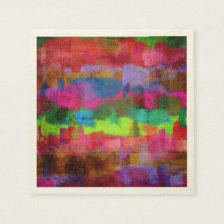 Abstraktes buntes Watercolor-Muster Papierservietten