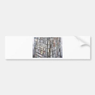 Abstraktes Büro-Gebäude (abstrakte Architektur) Autoaufkleber