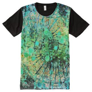 Abstraktes Druck-T-Stück T-Shirt Mit Bedruckbarer Vorderseite