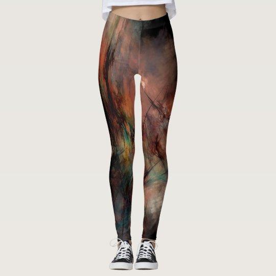Abstraktes dunkles Schwarz-und Blau-Muster Leggings