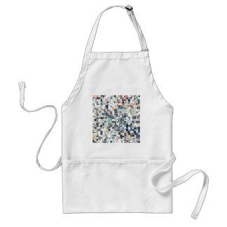 Abstraktes durcheinandergebrachtes Mosaik Schürze