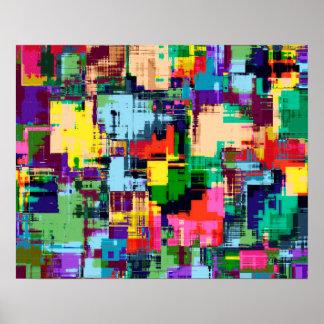 Abstraktes Entwurfs-Farbmuster Poster