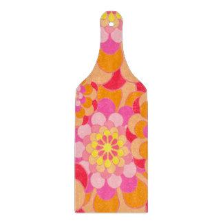 Abstraktes Entwurfs-Rosa mit Blumen Schneidebrett