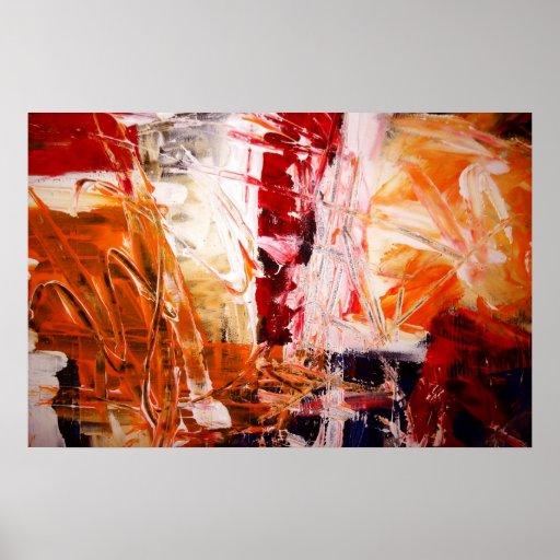 Abstraktes Expressionist-Kunst-Plakat-moderne Druc
