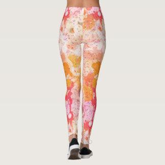 Abstraktes Farben-Spritzen im Rosa und in der Leggings