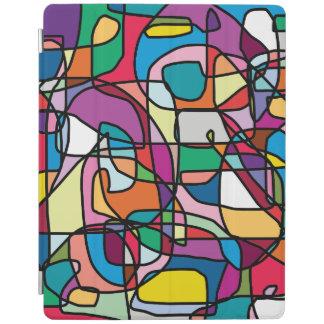 Abstraktes Farbgekritzel iPad intelligente iPad Hülle