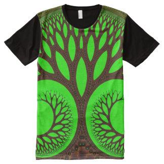 Abstraktes feines Fraktal des Baum-2 T-Shirt Mit Komplett Bedruckbarer Vorderseite