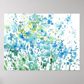 Abstraktes Feld der Blumen Poster