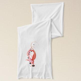 Abstraktes Flamingo-Farben-Spritzen Schal
