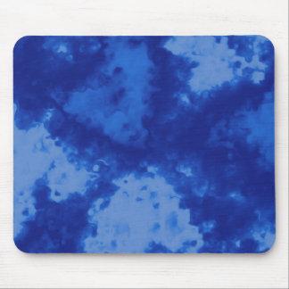Abstraktes flüssiges Aquarell Steigungs-Blau Mousepad