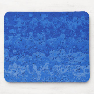 Abstraktes flüssiges gewelltes Steigungs-Blau Mousepad