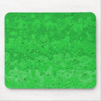 Abstraktes flüssiges gewelltes Steigungs-Grün Mousepad