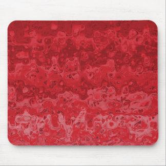 Abstraktes flüssiges gewelltes Steigungs-Rot Mousepad