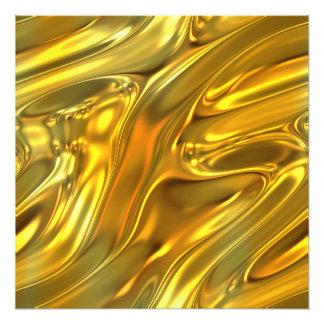 Abstraktes flüssiges Gold Fotografischer Druck
