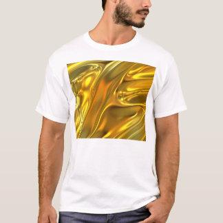 Abstraktes flüssiges Gold T-Shirt