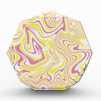 Abstraktes flüssiges Muster Acryl Auszeichnung