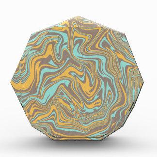 Abstraktes flüssiges Muster Auszeichnung