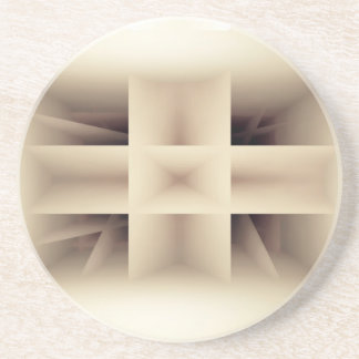 Abstraktes Formmuster Sandstein Untersetzer