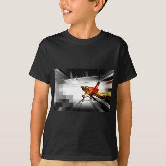 abstraktes Foto der großen gelben Heuschrecke T-Shirt