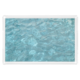 Abstraktes Fotografie-Aqua-Swimmingpool-Wasser Acryl Tablett
