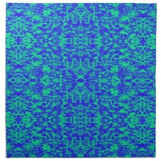 Abstraktes Fraktal im Blau und im Grün Serviette