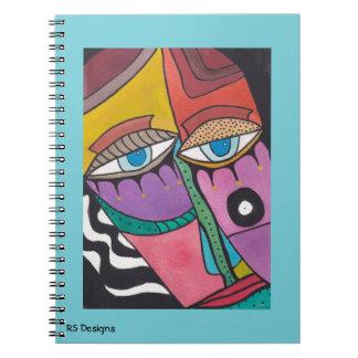Abstraktes Frauen-Notizbuch Spiral Notizblock