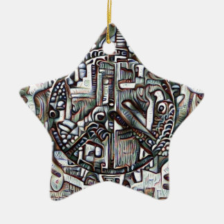 Abstraktes Friedenssymbol Keramik Ornament