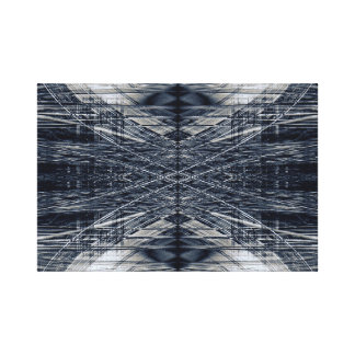 Abstraktes futuristisches Muster Leinwanddruck