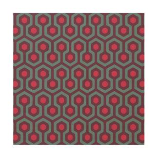 Abstraktes geometrisches Bienenstock-Muster Holzwanddeko