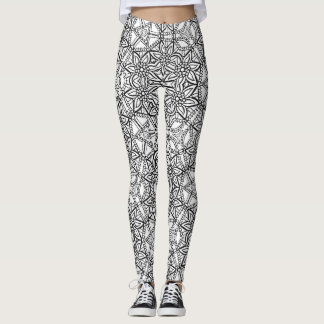 Abstraktes geometrisches Blumenmuster Leggings
