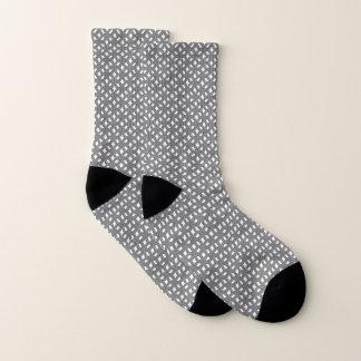 Abstraktes geometrisches Blumenmuster-Unisexsocken Socken