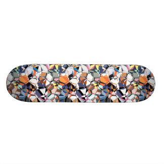 Abstraktes geometrisches Chaos Personalisiertes Skateboarddeck