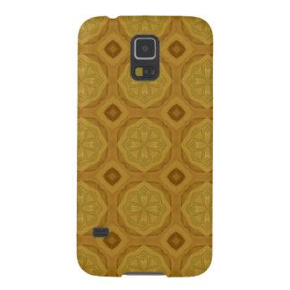 Abstraktes geometrisches hölzernes Muster Samsung S5 Cover