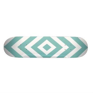 Abstraktes geometrisches Muster - Blau und Weiß 19,1 Cm Old School Skateboard Deck