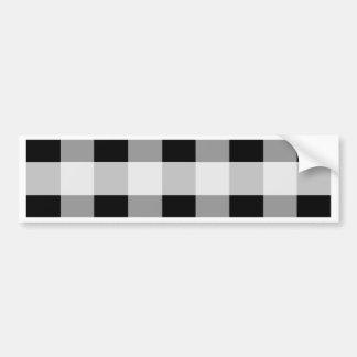 Abstraktes geometrisches Muster - Schwarzweiss. Autoaufkleber