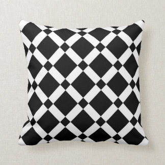 Abstraktes geometrisches Muster - Schwarzweiss. Kissen