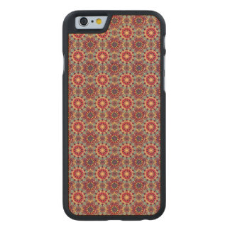 Abstraktes geometrisches retro nahtloses Muster Carved® iPhone 6 Hülle Ahorn