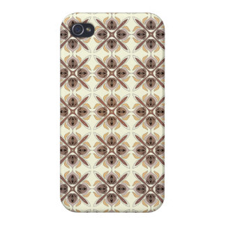 Abstraktes geometrisches retro nahtloses Muster iPhone 4/4S Cover