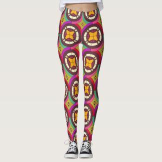 Abstraktes geometrisches retro nahtloses Muster Leggings