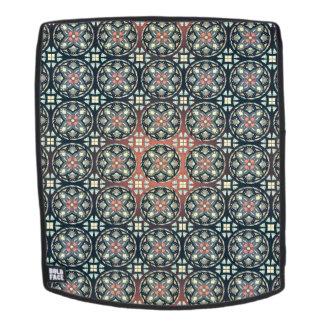 Abstraktes geometrisches retro nahtloses Muster Rucksack
