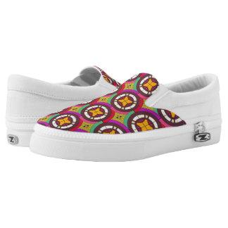Abstraktes geometrisches retro nahtloses Muster Slip-On Sneaker
