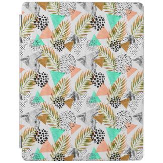 Abstraktes geometrisches tropisches Blatt-Muster iPad Smart Cover
