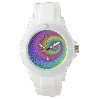 Abstraktes gewundenes Fraktal Armbanduhr
