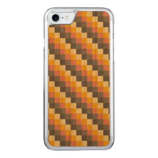 Abstraktes Gitter-Farbmuster Carved iPhone 8/7 Hülle