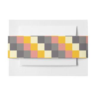 Abstraktes Gitter-Farbmuster Einladungsbanderole