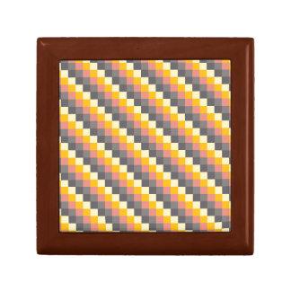 Abstraktes Gitter-Farbmuster Erinnerungskiste