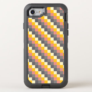 Abstraktes Gitter-Farbmuster OtterBox Defender iPhone 8/7 Hülle