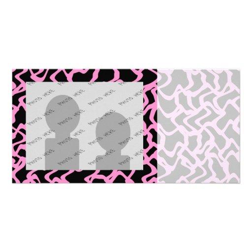 Abstraktes grafisches Muster-schwarzes und helles  Foto Grußkarte